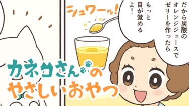 【第二話】カネコさんのやさしいおやつ【炭酸のオレンジゼリー】