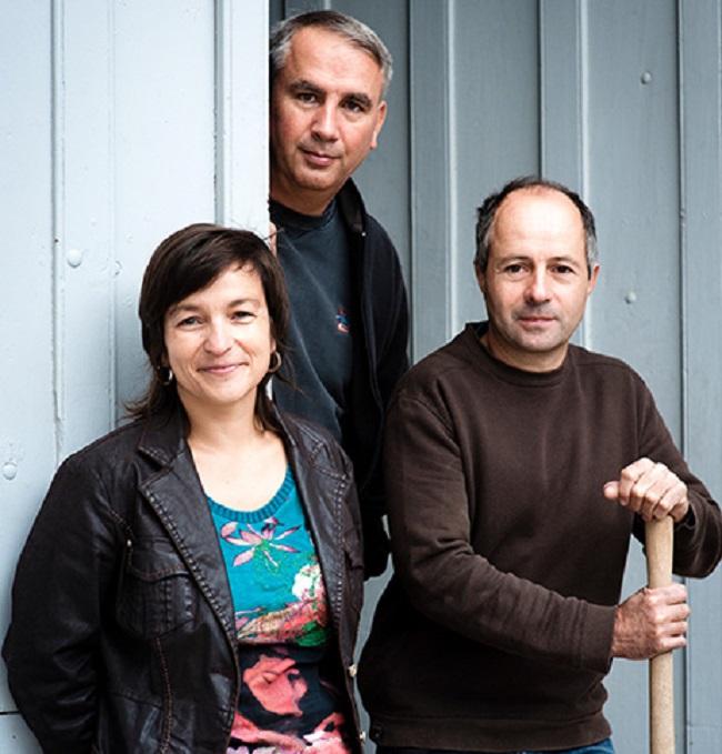 ワイナリーの責任者を務めるナタリー、ジャン・ポール、オリヴィエ・トロ